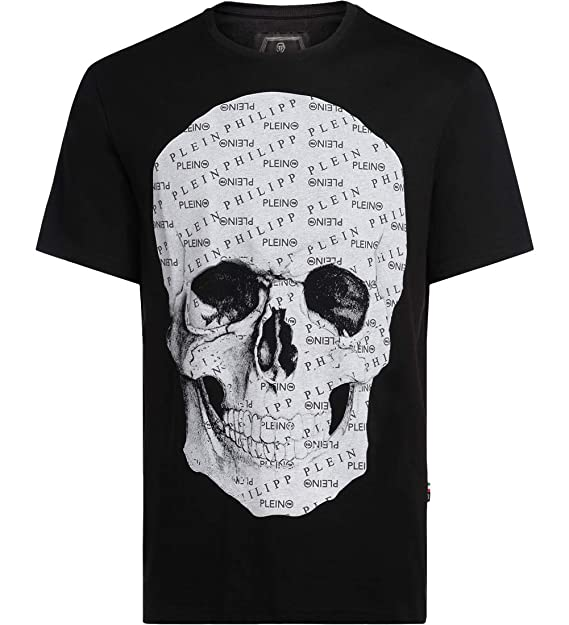 ecf2cf5e7a PHILIPP PLEIN Man's Platinum Cut Black T-Shirt with Skull Impression:  Amazon.ca: Clothing & Accessories