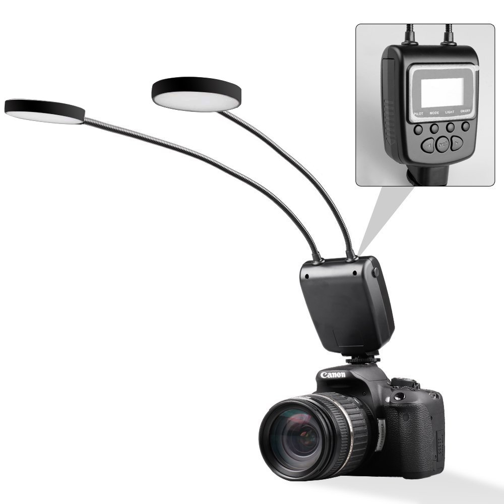 Amazon.com : Camera Flash, SAMTIAN LED Photo Light with 2 Adjustable ...