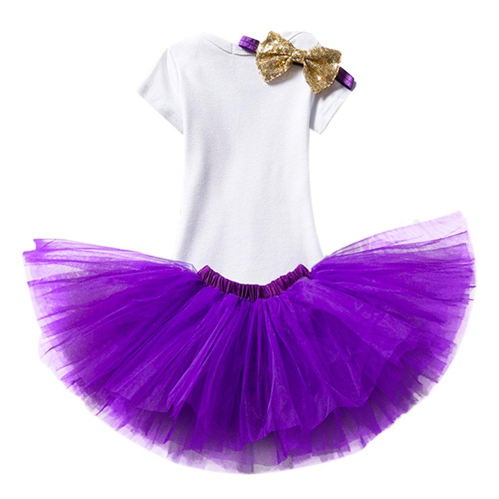 026de3dd3 IWEMEK Bebé 1er // 2 ° Cumpleaños Unicornio Niñas Princesa Trajes de ...