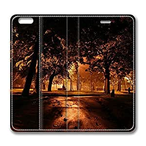iPhone 6 4.7inch Leather Case - Park At Night City Fashion Luxury Protective Slim Fit Skin Leather Cover For Iphone 6 [Stand Feature] [Slim - fit] Flip Leather Case Cover for New iPhone 6 wangjiang maoyi
