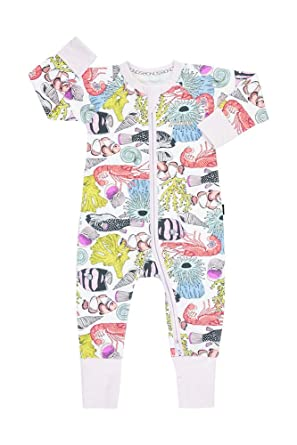 20ed172fd Bonds Baby Wondersuit 2 Way Zipper Sleep and Play Fold Over and Feet Cuffs  (Newborn