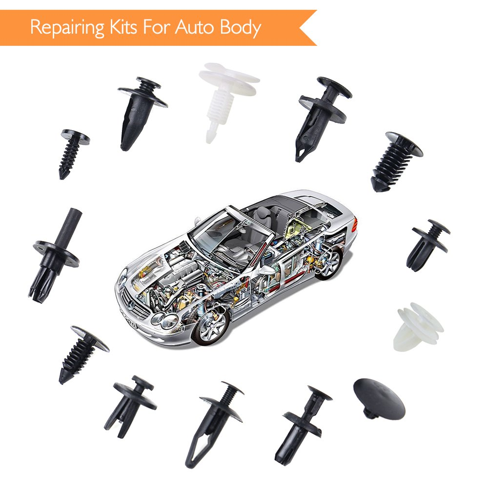 EZYKOO 150 pcs Fender Clip,Plastic Clips for Car,Push-Type Bumper Fasteners Rivet Clips-2 Sizes Auto Clips /& Fastener for Bumper Fender Clips Replacement-Fastener Removal Tool Included
