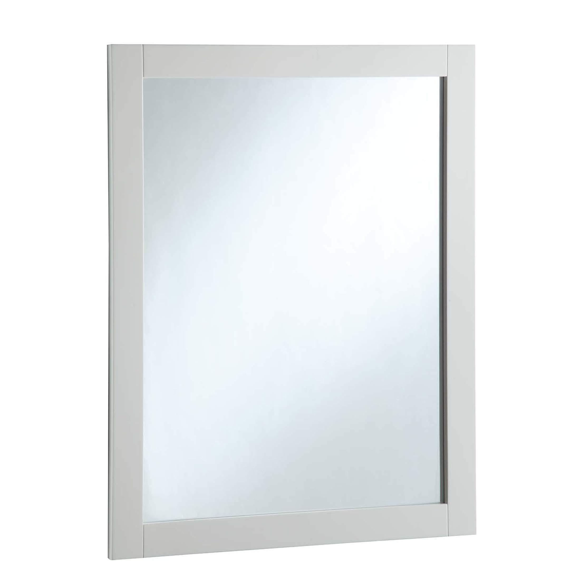 Design House 547216 24-Inch By 30-Inch Vanity Mirror, Semi-Gloss White,