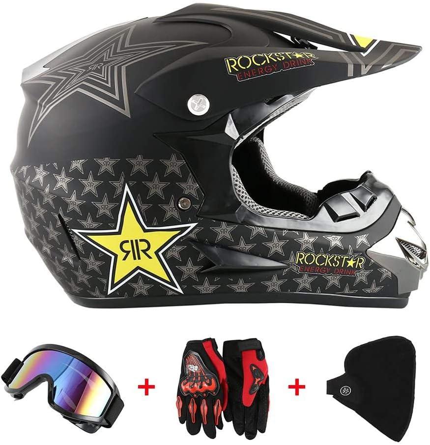 Helme Jugend Kinder Motocross Jungen Und Mädchen Vollgesichtsmotorrad Offroad Crash Schutzausrüstung Mit Schutzbrille Handschuhe Maske Dot Zertifiziert Lwaj Küche Haushalt