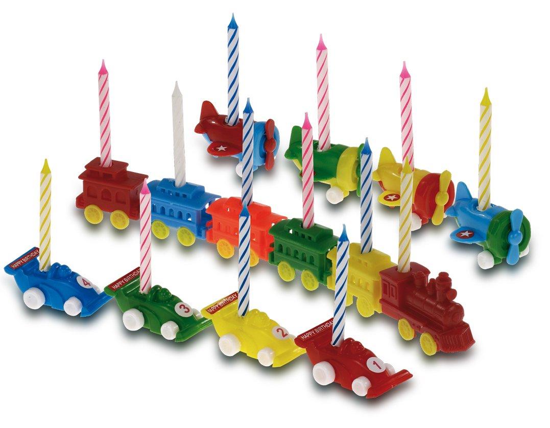 Halter 19845 PAPSTAR 5 Geburtstagskerzen Autos inkl