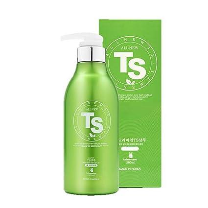 T & S Champú anticaída del cabello champú 500ml pts mejor éxito elemento w muestra del