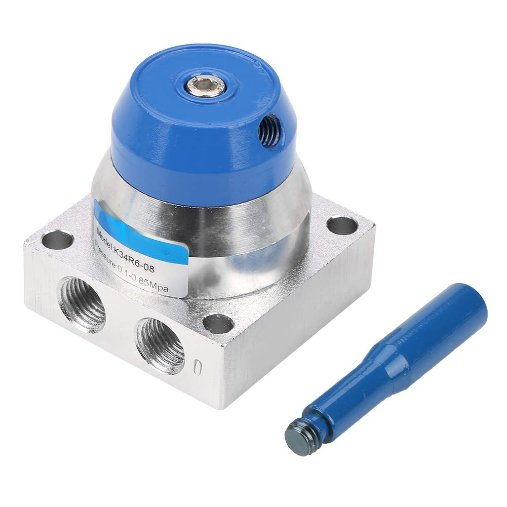 Acogedor G1/4'' Hand Lever Valve,3 Position 4 Way Air Hand Lever Operated Valve,Accurate Positioning,Easy to Reverse Rotation,for Packaging, Food, Textile, Plastic Machinery, etc. by Acogedor