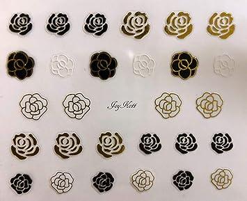 787a8cfb6 Amazon.com: JoyKott luxury Brand LV Coco Chanel Vintage Gucci Nail Art  Stickers: Beauty
