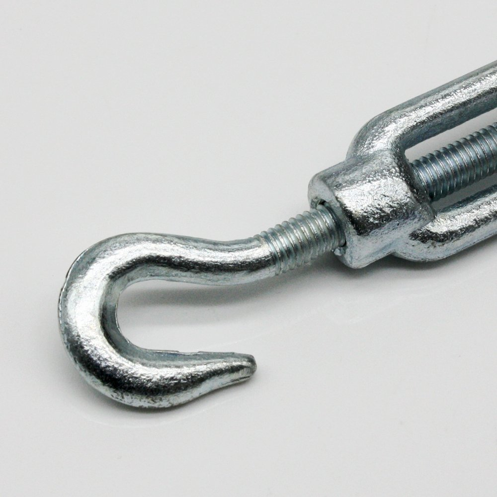 5x Turnbuckle M6/DIN 1480/with Hook and Eyelet Galvanised Steel Tension Hooks Eyelets Screw Wire Tensioner Hook Screw