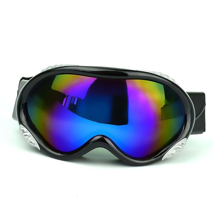 TZQ Doble Esférica Anti Neblina Gafas De Esquí A Prueba De ...