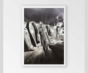 THE MUMMY poster ALEX ROSS rare THE MUMMY Universal Monsters movie wall art Halloween decorations