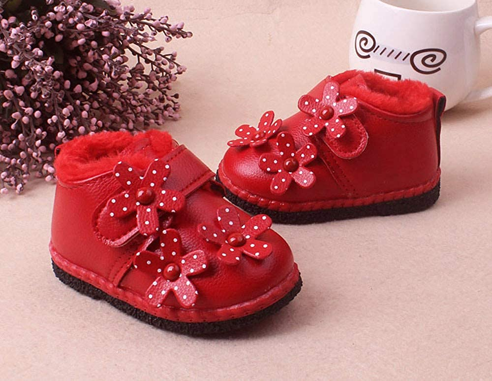 Baulody Baby Infant Toddler Girls Boys Flower Winter Warm Shoes Snow Boots Sneakers