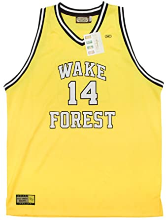 7b39149ae40 Rob sTees Muggsy Bogues Wake Forest University Demon Deacons Authentic Throwback  Jersey ...