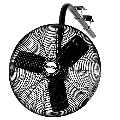 Air King 9670 30-Inch 1/3-Horsepower Industrial Grade I-Beam Mount Fan with 8,780-CFM, Black ()