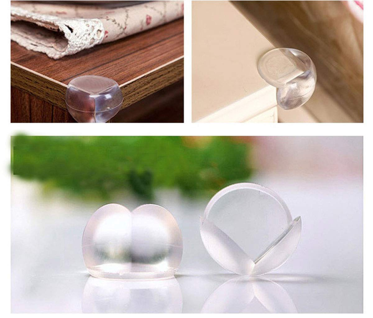 Square Accod Safety Corner Protectors Guards Table Corner Guards Soft Transparent PVC Table Corner Guard Cushion with 3M Adhesive for Baby and Kids-12 Pack
