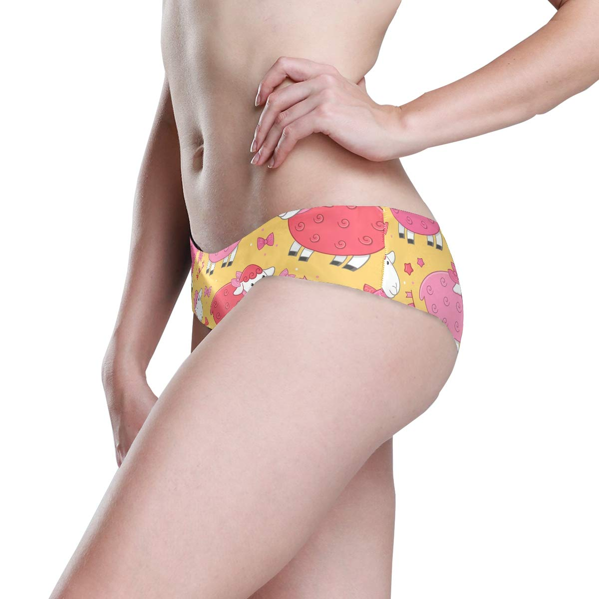 Seamless Lamb Animal Bikini Underwear Low Rise-2 Pack