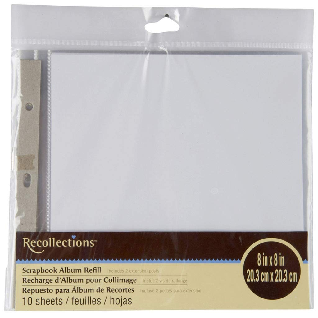 Recollections Scrapbook Album Refill Pages (8 x 8)
