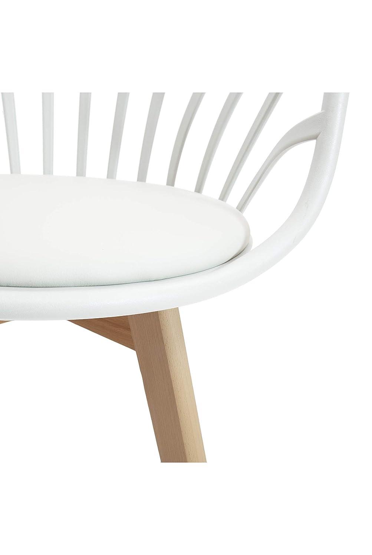 58x57x85 cm White loft LF674 Set di 2 Poltrone Colore Bianco Poliuretano