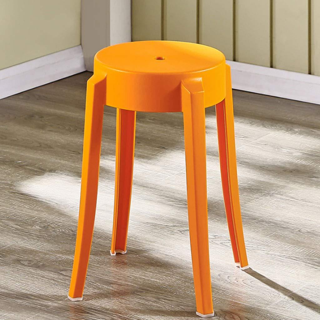 ZXW Tabouret- Tabouret en plastique cré atif de tabouret haut cré atif d'é paississement de banc de chaise de tabouret en plastique (Couleur : Red, taille : Ø 26x45cm) taille : Ø26x45cm)