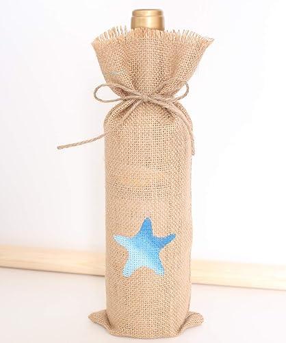 Saco para botella con estrella de mar azul degradé set 10 ...