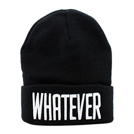 Amazon.com  Clearance!! Winter Beanie Cap Slouchy Knit Skull Hat for Women  Men (Black)  Clothing ab8fb3be580
