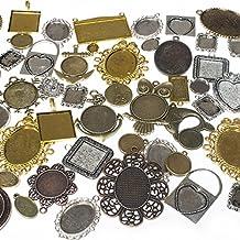 100 Grams Mixed Picture Frame Charm Pendants 35-40 Pcs