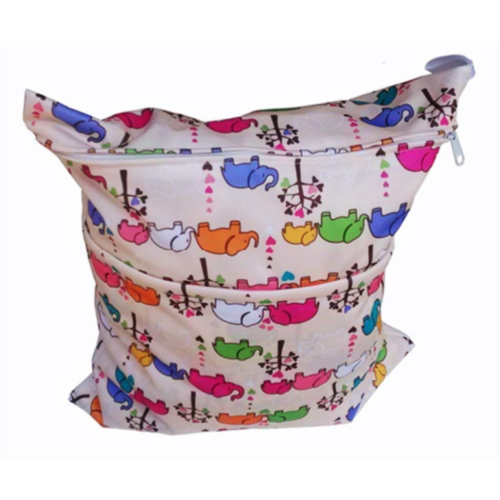 Baby Wet//Dry Bag Reusable Washable Baby Cloth Diaper for Baby Toddler Kids