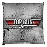 Top Gun 1986 Romantic Military Action Drama Movie Logo Throw Pillow