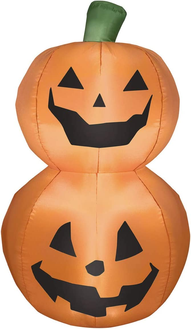 "Home Halloween Fall Autumn Inflatable Yard Decor Stacked Pumpkin Duo Inflatable, 42"" Seasonal"