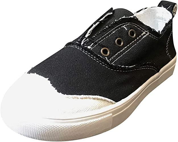 Flat Canvas Shoes for Women Without