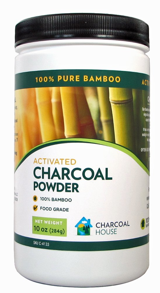 Bamboo Activated Charcoal Powder 12 ounce 1 quart jar