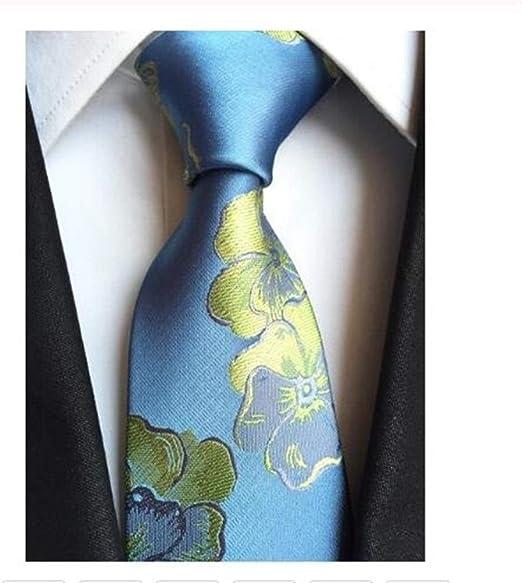 HUOYAN Hombres De Seda Corbata Corbatas A Cuadros Corbatas 8cm ...