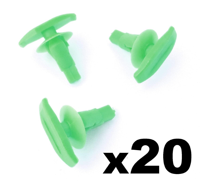 Joint de porte Clip Vert 20/x Plastique Joint en caoutchouc et joint de porte Clips de fixation