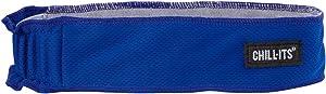 Ergodyne Chill-Its 6605 Headband, Lined with Terry Cloth Sweatband, Sweat Wicking, Blue