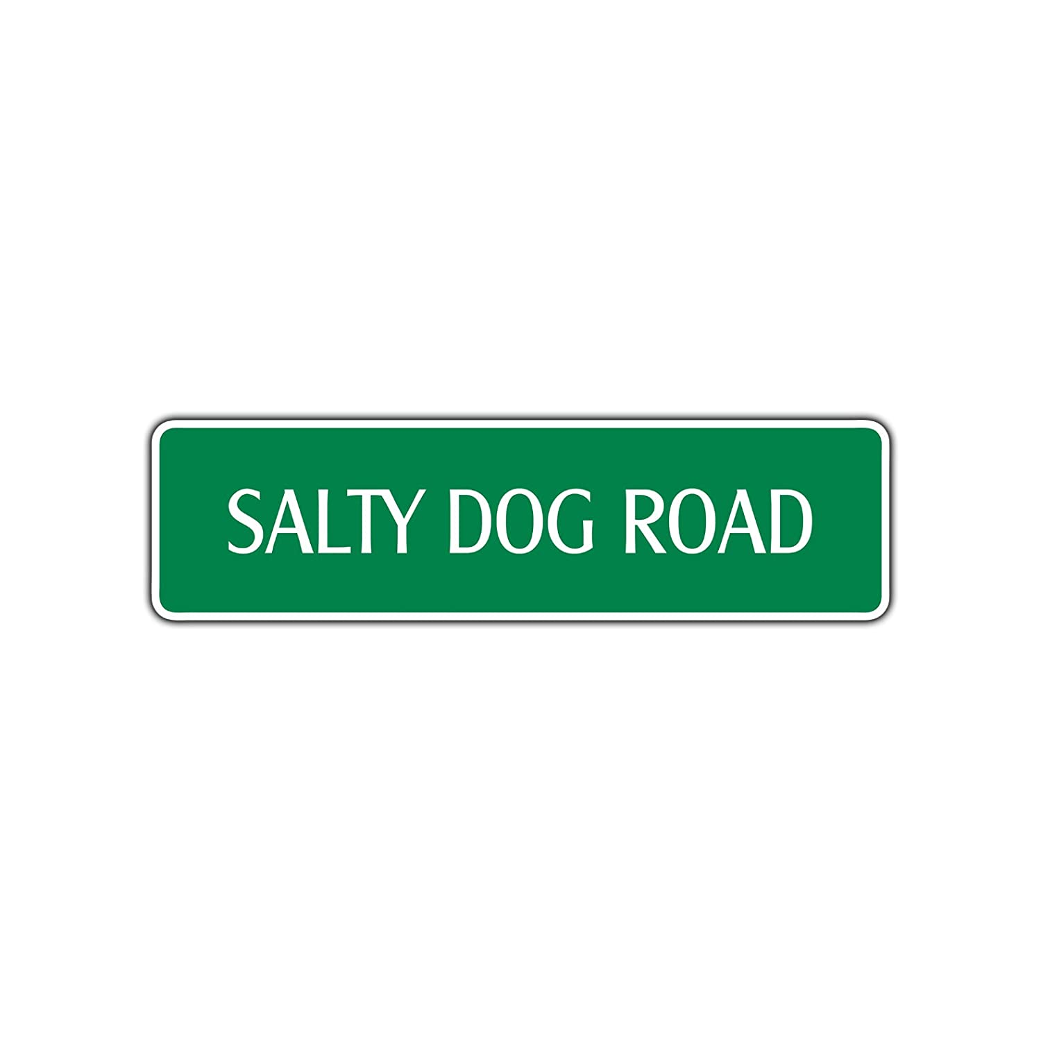 Salty Dog Road Cartel de metal para cóctel, zumo, bebida ...