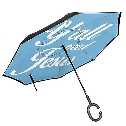 Csiemns Yall Need Jesus Paraguas invertido invertido al revés ...