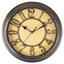 Benail 12 Inch Retro Non Ticking Silent Quartz Decorative Wall Clock