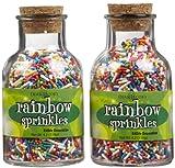 Dean Jacobs Rainbow Sprinkles Glass Jar w/ Cork - 4.2 oz