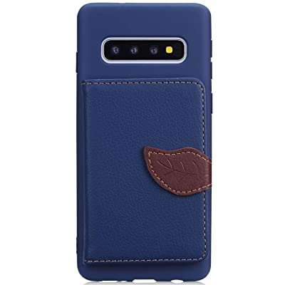 IKASEFU Compatible with Samsung Galaxy S10 Silicone Case Pu Leather Leaf style Wallet Strap Case Card Slots Shockproof Magnetic Flip Stand Function Protective Soft Bumper Cover Case,blue: Musical Instruments