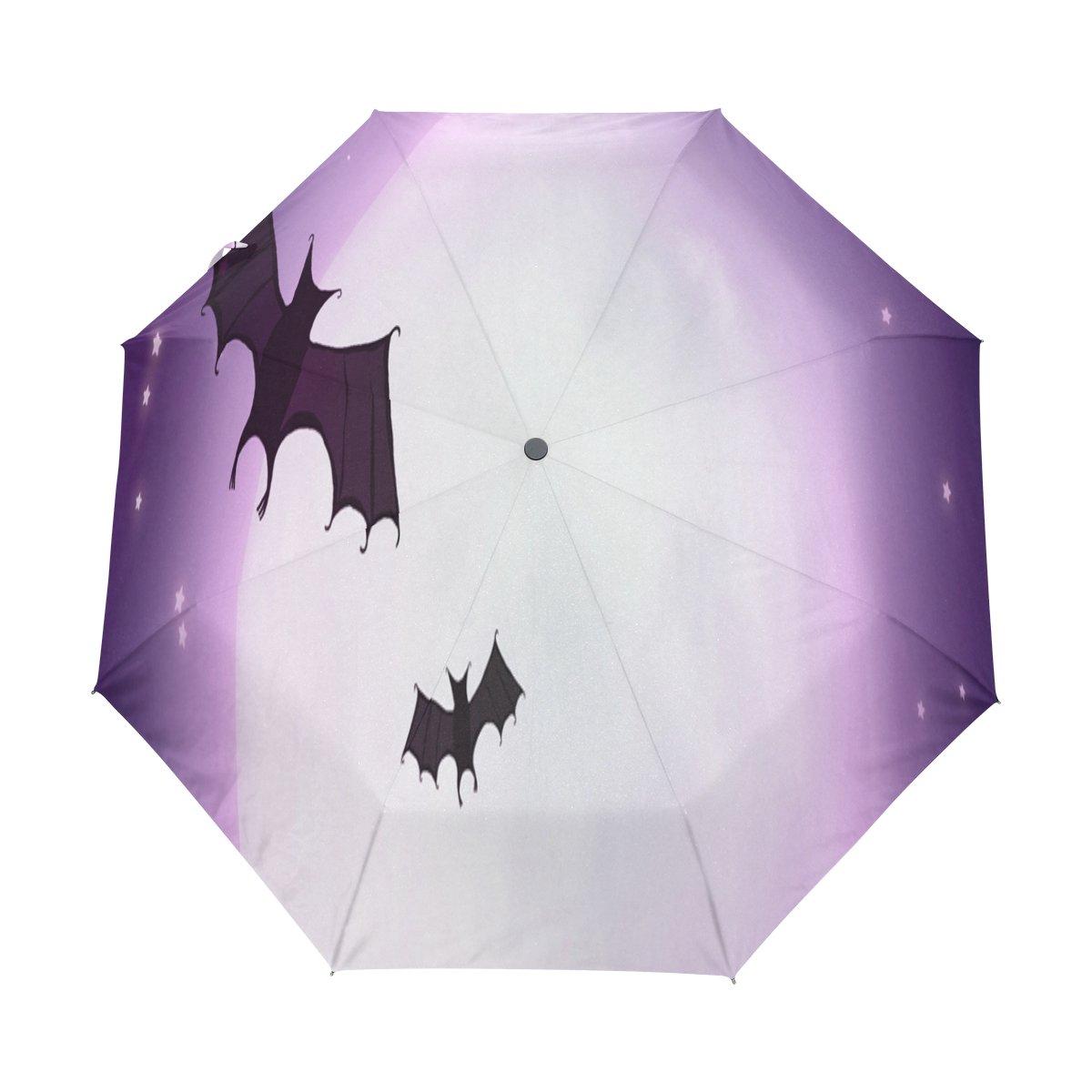 Senya Saobao防風と防雨トラベル傘with自動開いて閉じFoldingブラックBatポータブル折りたたみ式太陽雨傘 B07FCYTR12