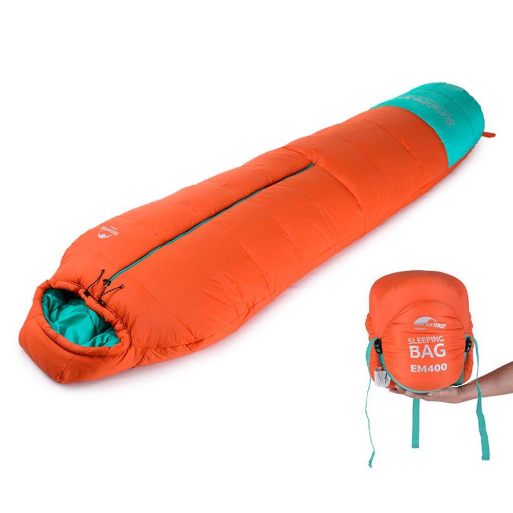 sanva profesional de saco de dormir momia saco de dormir 400 g/m² Ultraleicht pequeño cálido 210 x 80 cm cabaña Saco de dormir de 10 grados Outdoor Camping ...