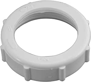 White Plastic Plumb Pak PP20956 Slip Joint Nut with Washer 1-1//4 in 1 4 x 1 4