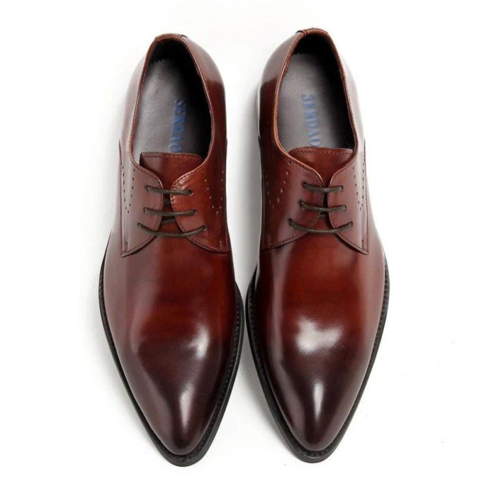 Herren Schnürschuhe Aus Emailliertem Leder Brogues Oxford Herrenschuhe Aus Aus Aus Echtem Leder Derby Schuhe Für Männer Business Hochzeit Abend,schwarz 38 Wine f9d8a7