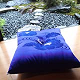 Four Seasons High-Quality Japanese-Made Cushion Using The Brocade( Kimono Fabric) . All Season.(Zabuton) 26.3× 27.5Inch