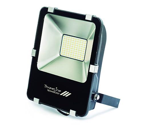 Threeline PRG Proyector Foco LED, 50 W, Blanco Frío: Amazon.es ...