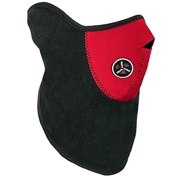 PrimeMatik - Máscara de Neopreno para Cuello y Cara para Bicicleta Motorista y Esquiador Rojo