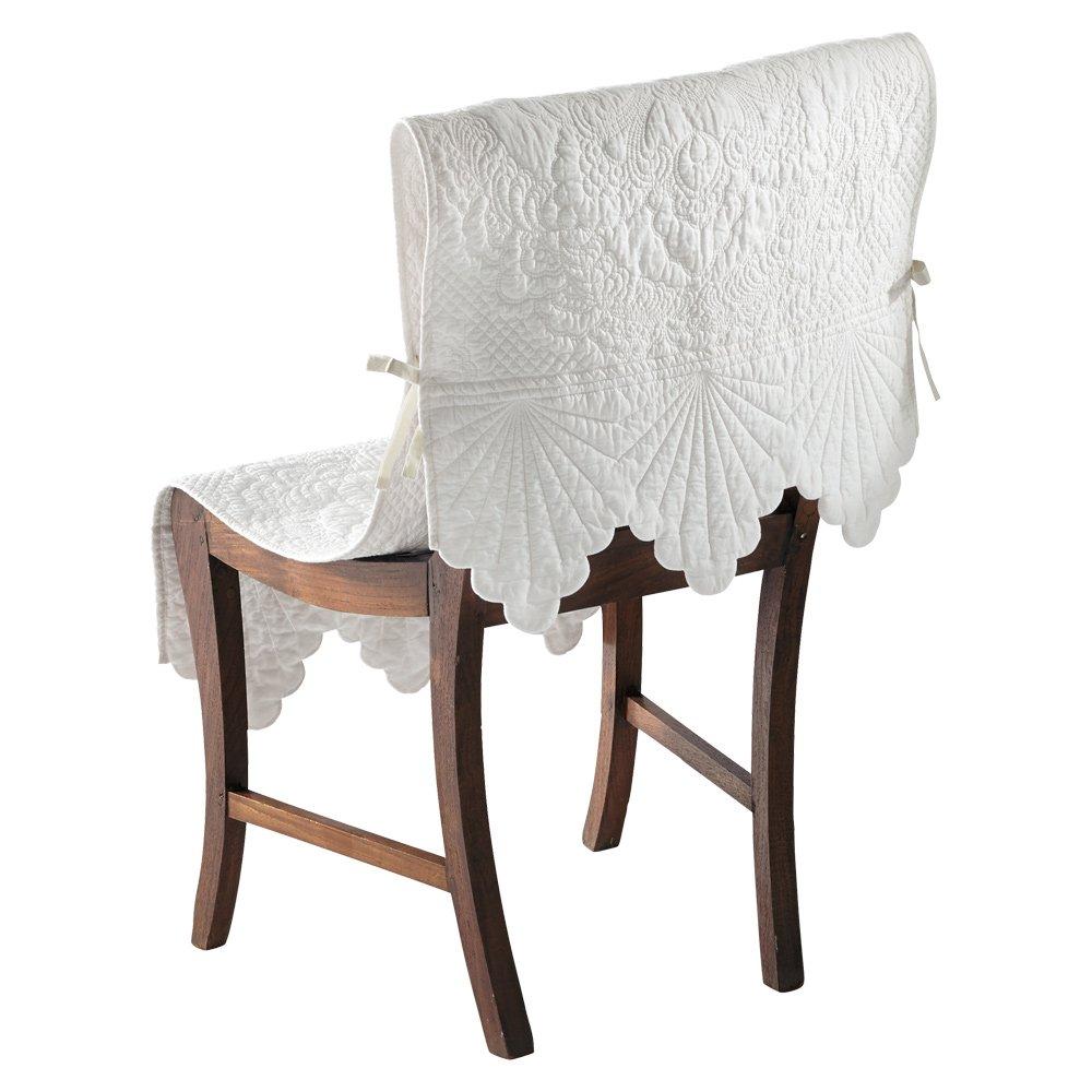 Rimmaリンマ 綿キルトチェアカバー(1枚) H30030(サイズはありません ア:ホワイト) B0792YSQMH ア:ホワイト ア:ホワイト