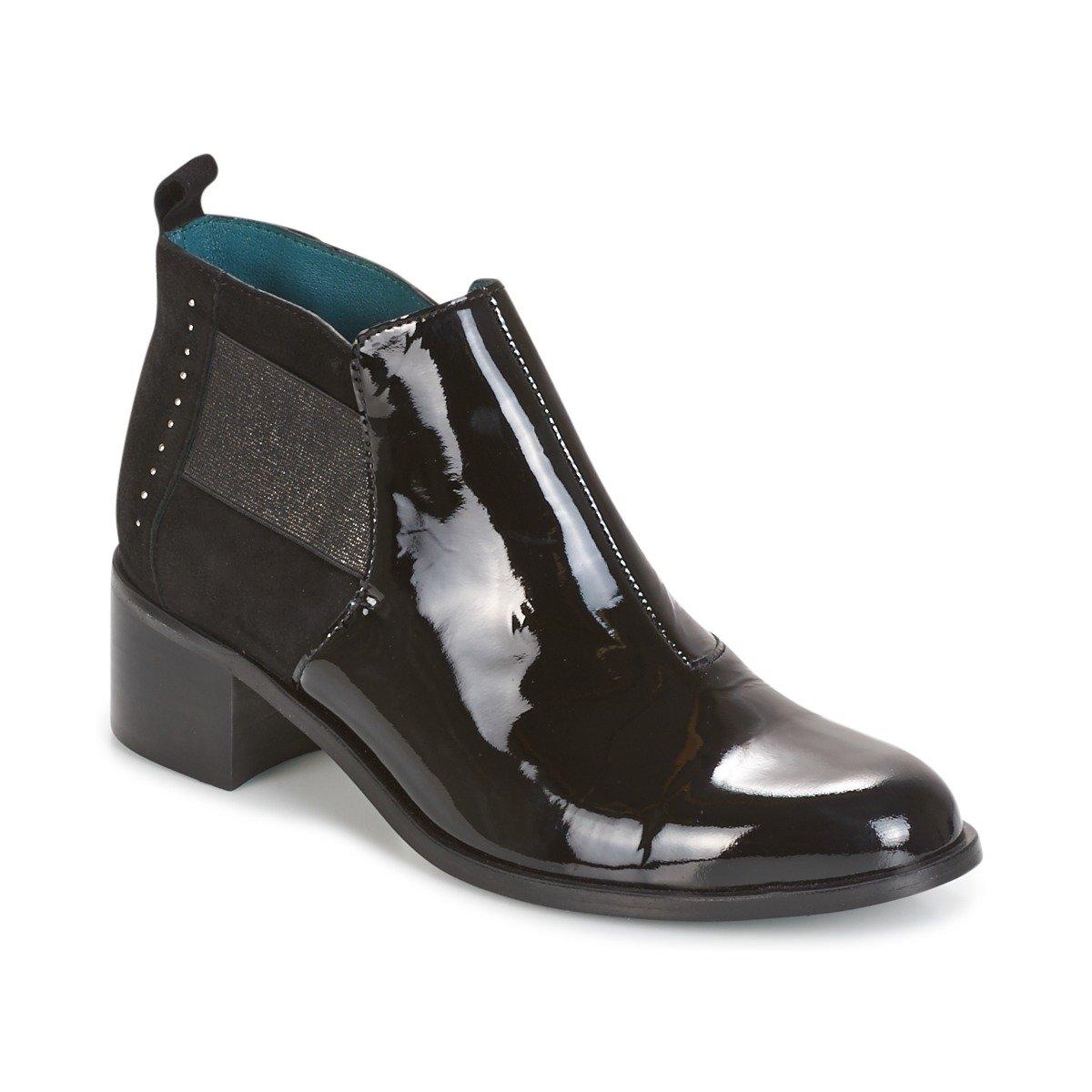 Karston damen GLEBOU Schwarz Ankle Stiefel