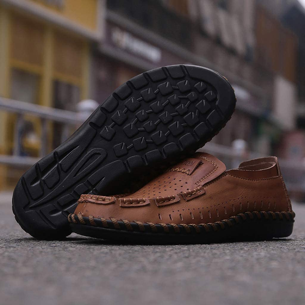 〓COOlCCI〓Mens Loafers /& Slip-Ons Loafer Lightweight Slip On Driving Shoes Penny Loafers Hollow Out Flats Shoes