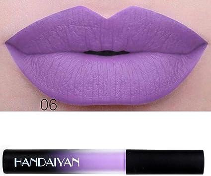 12 Colores Profesional Pintalabios Mate Labial de Maquillaje Larga ...